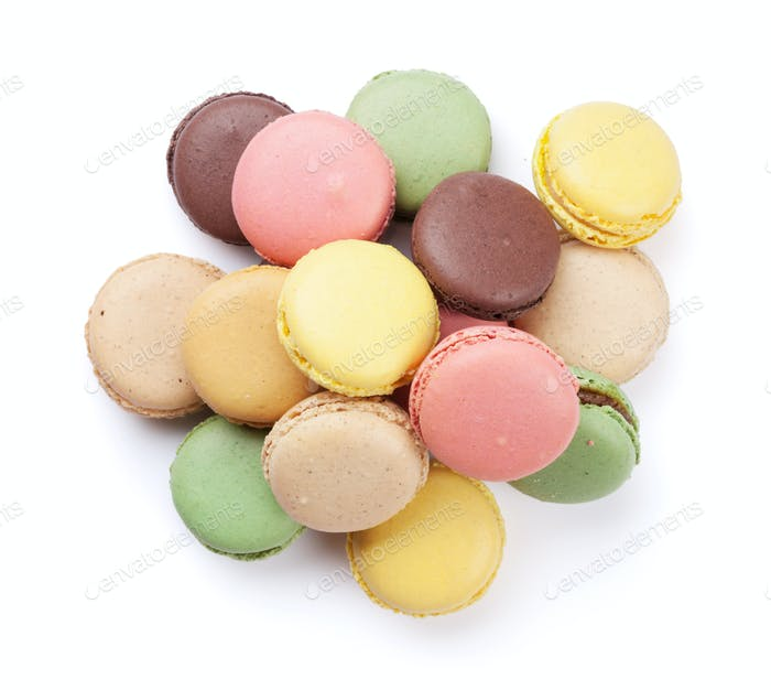 Colorful macaroons. Sweet macarons