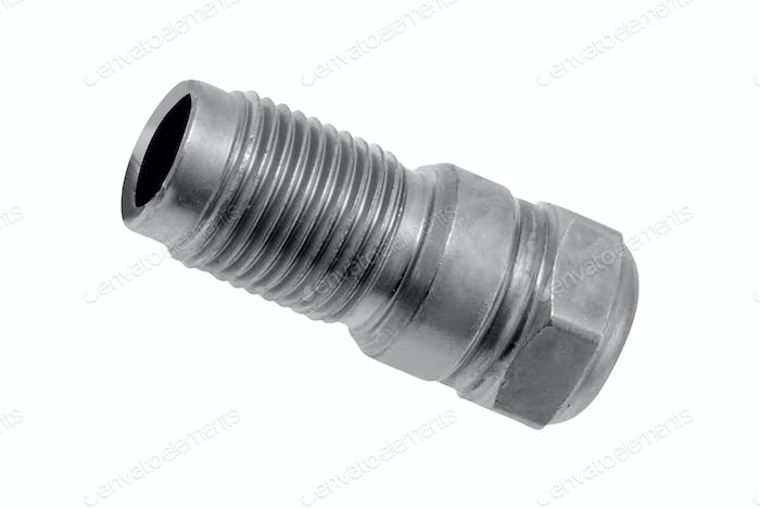 metal screw isolated on white