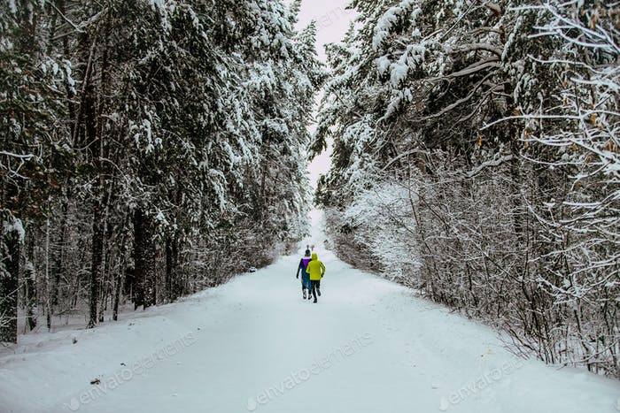 Marathon Winter Alley in Forest