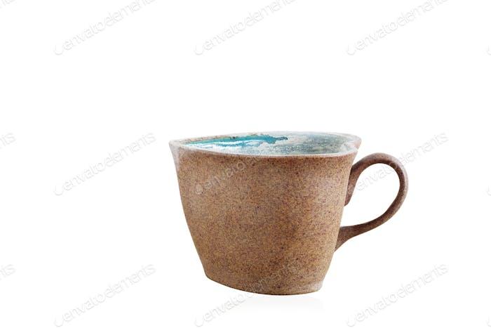 Old mug on white background