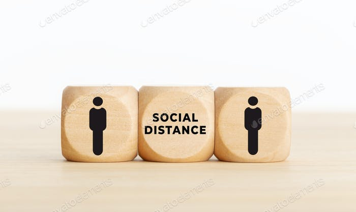 Social distance concept on coronavirus Covid-19 pandemic