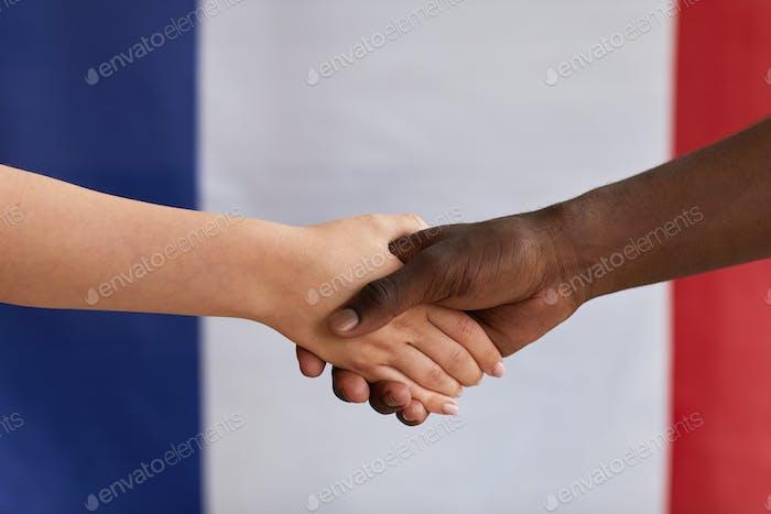 International handshake against the frag