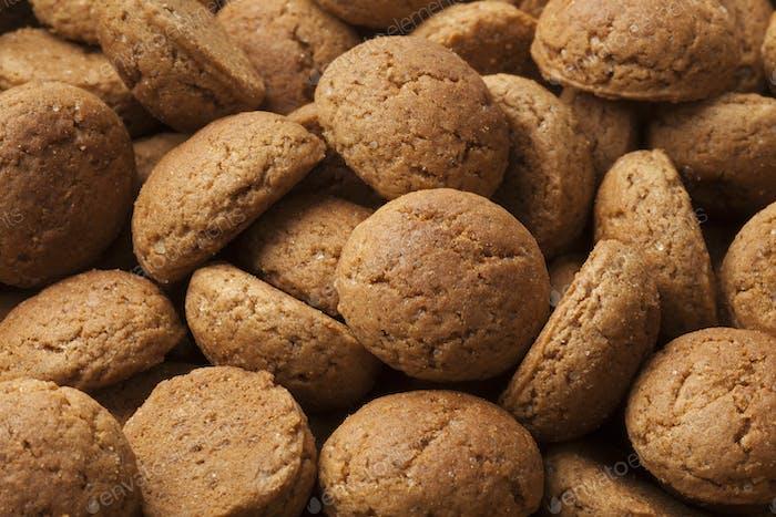 Traditional Dutch gingerbread cookies for sinterklaas