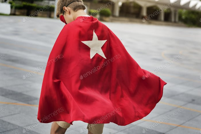 Superhero Boy Kid Custome Energy Concept
