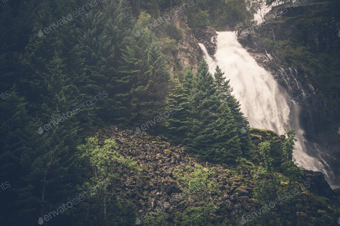 Mountain Waterfall Place