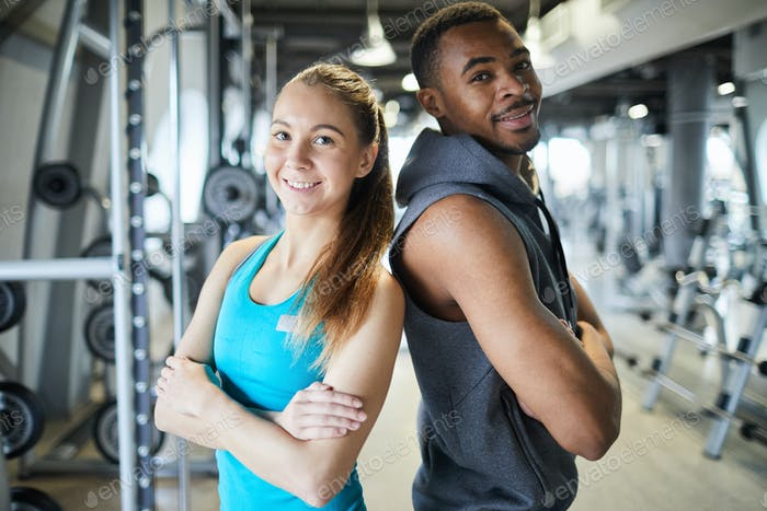 Couple in gym
