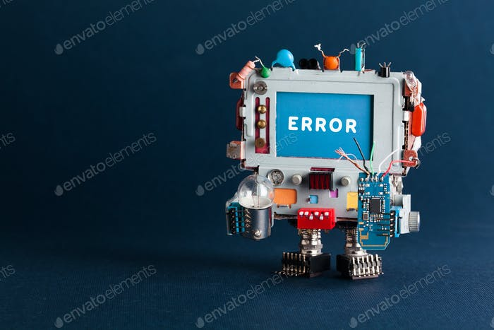 Error concept poster.