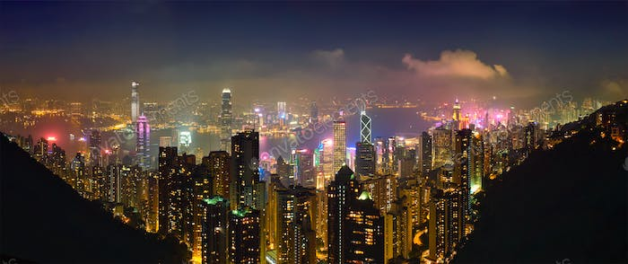 Thumbnail for Hong Kong skyscrapers skyline cityscape view