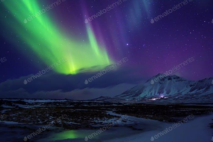 Island. Nordlichter