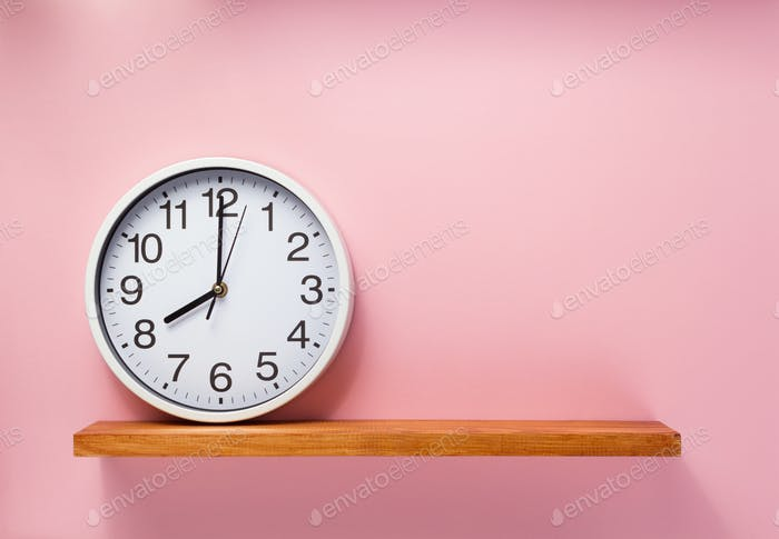 wall clock at abstract background