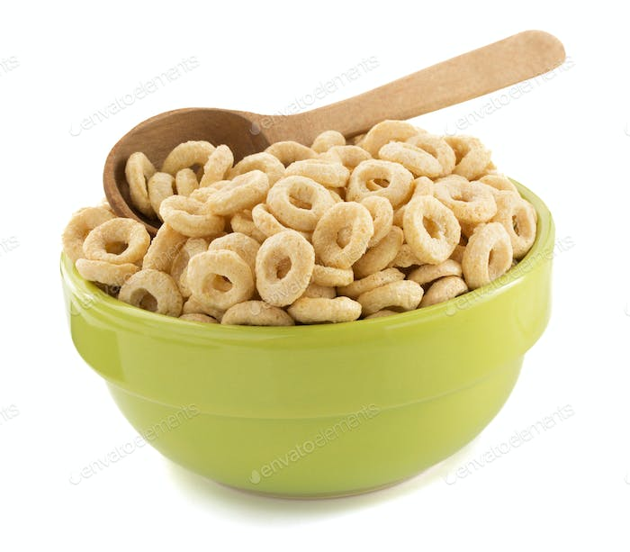cereals rings in bowl
