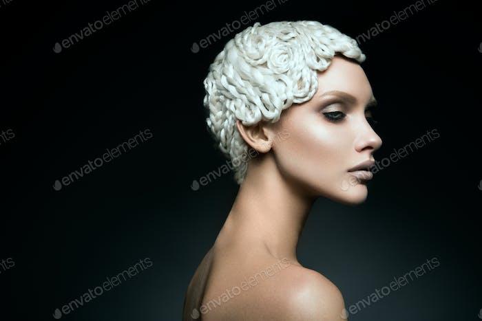 Fashion art make up woman face