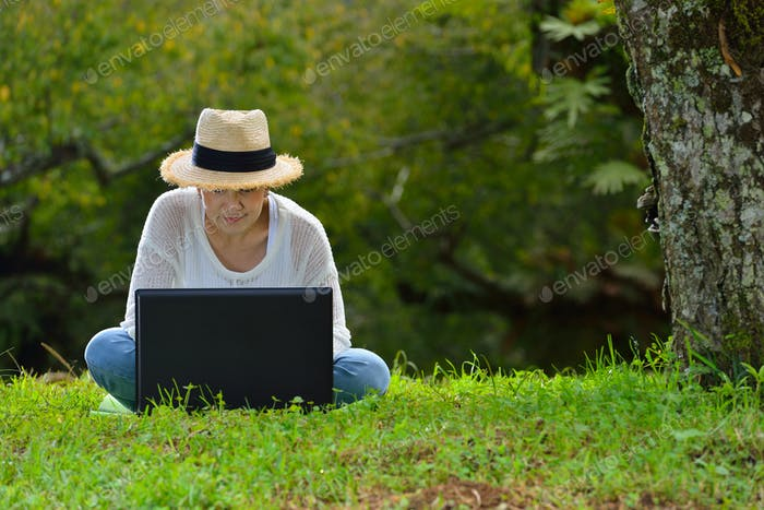 Woman enjoying the nature