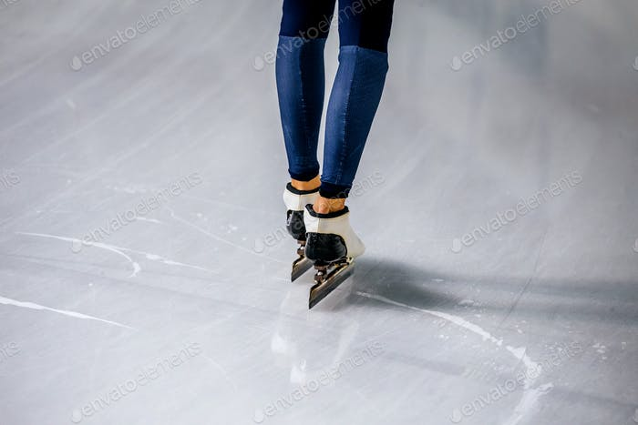 Feet of Woman Speed Skater