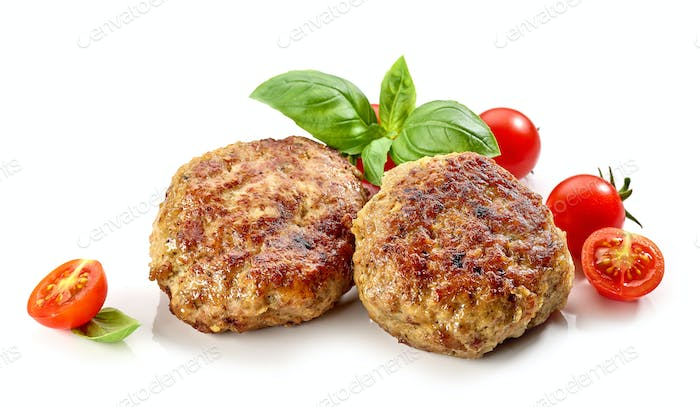 freshly baked homemade cutlets