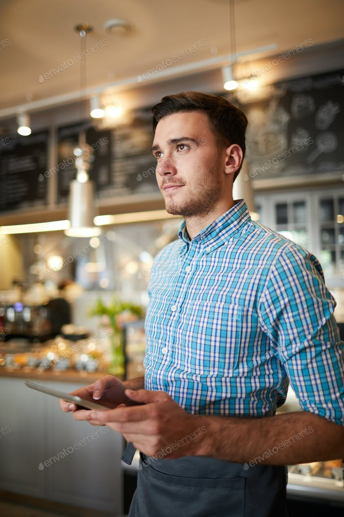 Waiter with touchpad