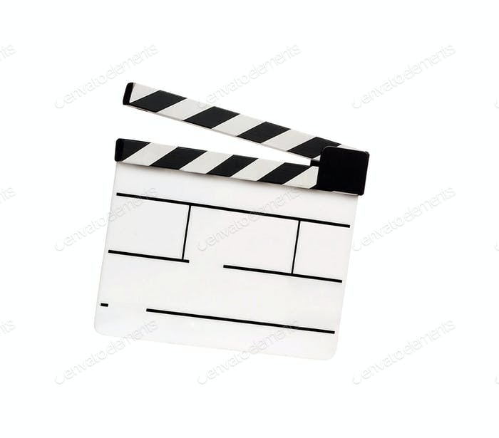 Movie clapper isolated