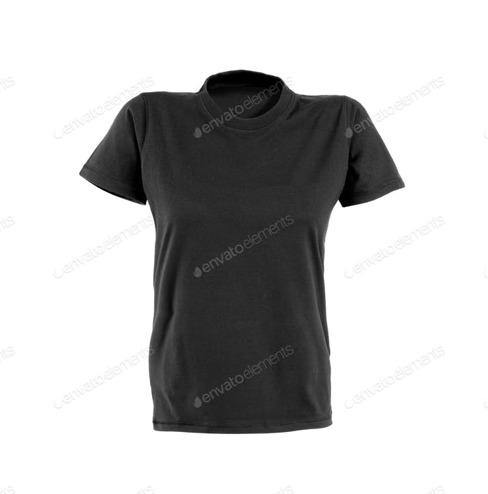 Black woman t-shirt on white background