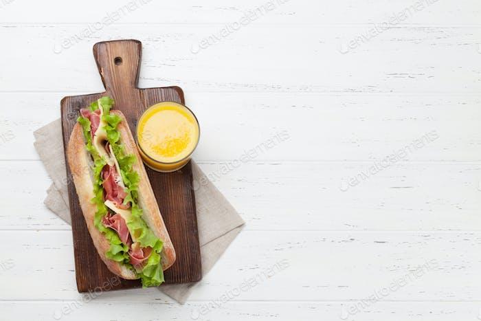 Frisches U-Bootsandwich
