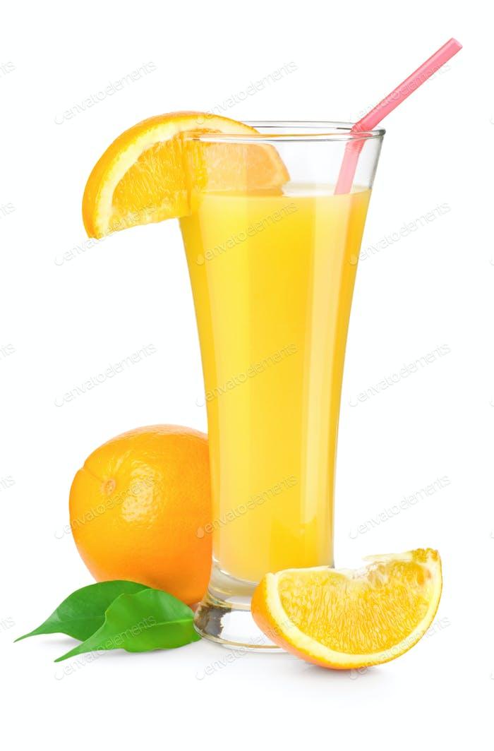 Orange juice in a glass