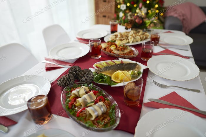 Christmas table is waiting for the quests