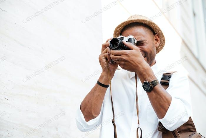 Black man photographs