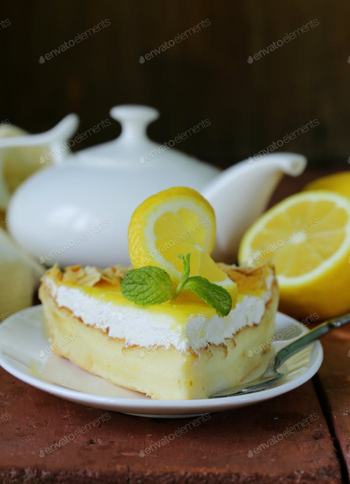 Piece Of Lemon Cake Tart