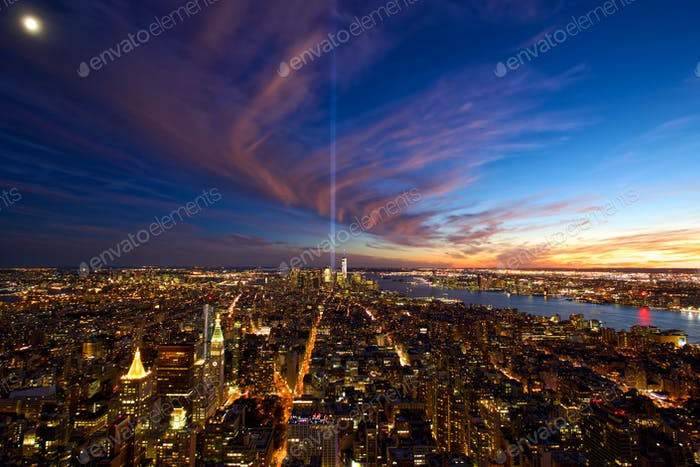 Skyline von New York City Manhattan