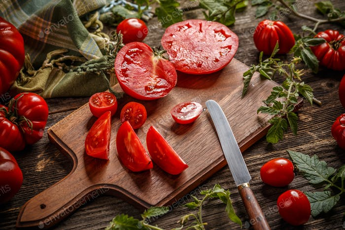 Gehackte Tomate