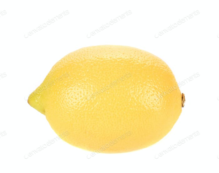 Beautiful ripe lemon.