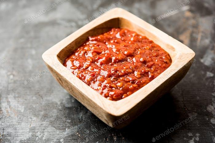 Szechuan-Sauce oder Chutney