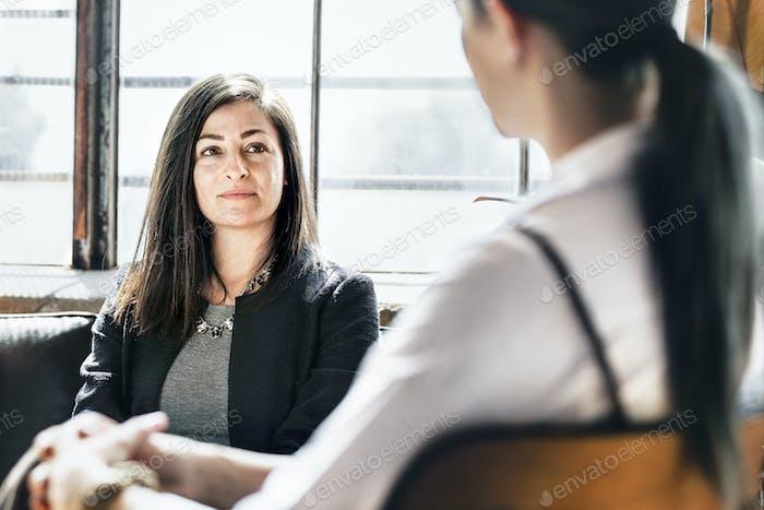 Geschäftsleute in einer Konsultation
