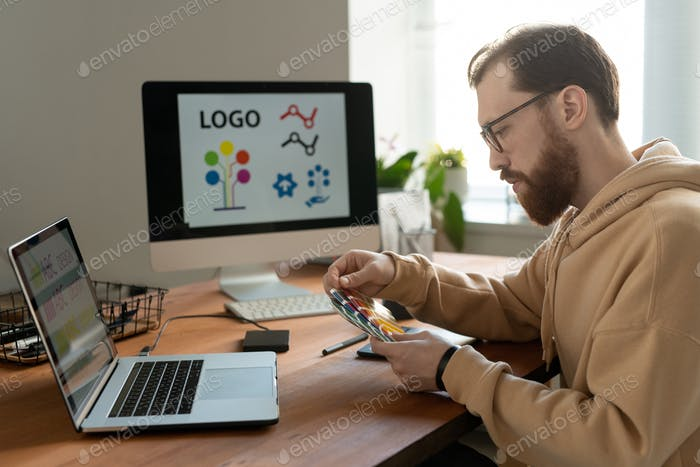 Working on logo design