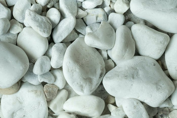 close-up of few white stones, front view