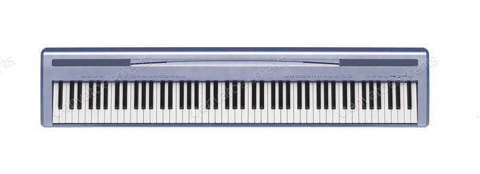 Blauer Synthesizer isoliert