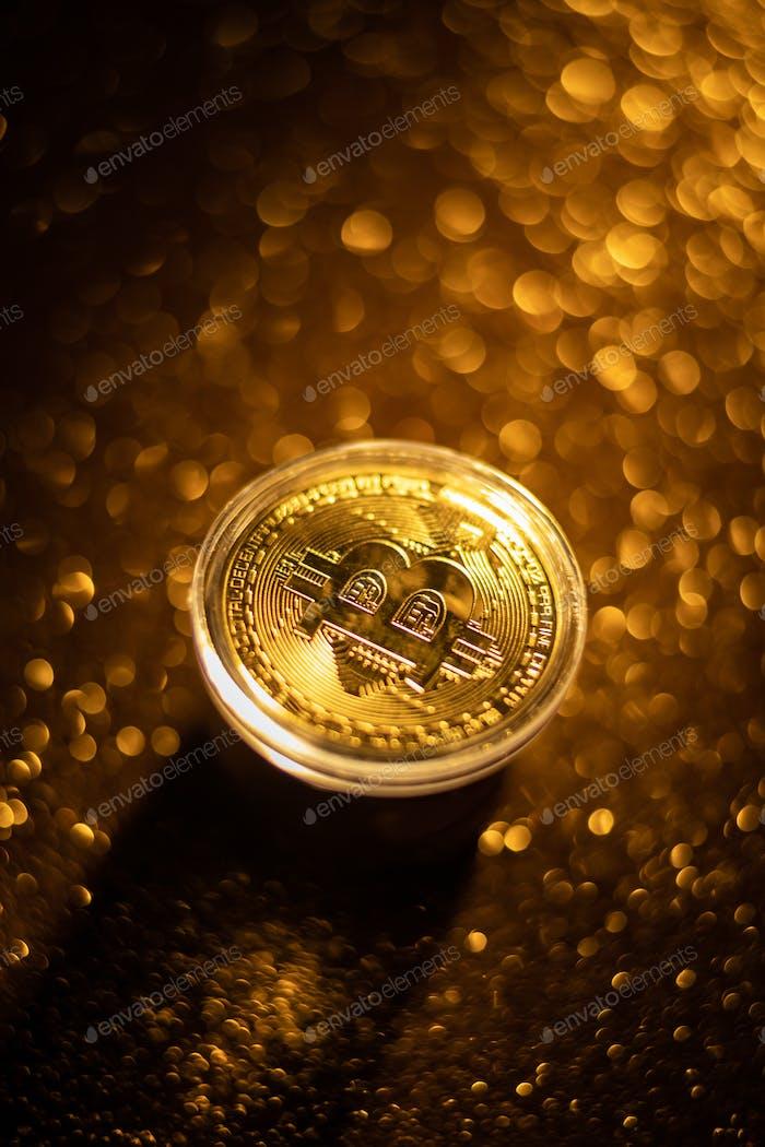 Concepto de dinero virtual Bitcoin.