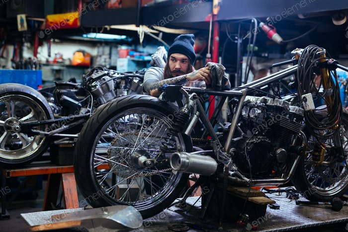 Repairing custom bike
