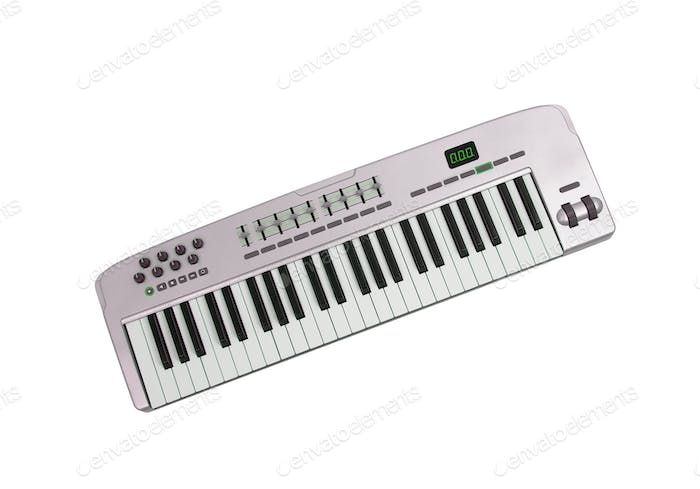 Music keyboard isolated on white background