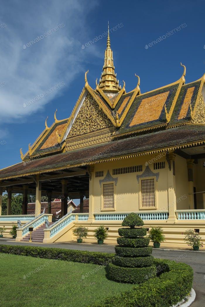 Royal Palace of Cambodia and courtyard, Phom Penh, Cambodia