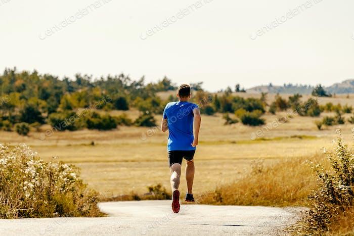 back male runner athlete