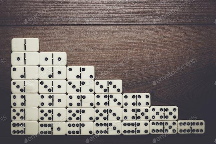 voller Satz von Domino Stücke Hintergrund