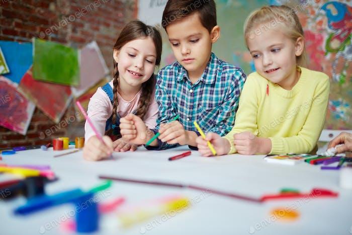 Drawing in kindergarten