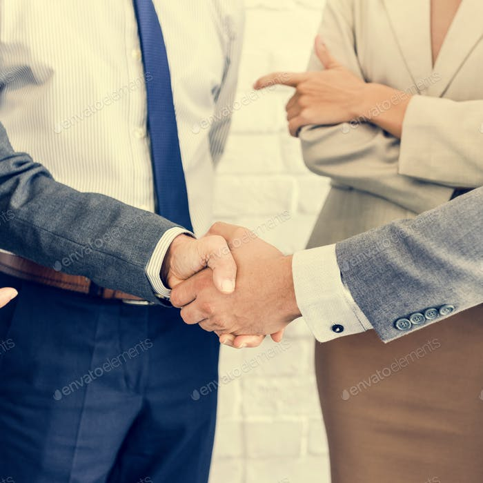 Business Team Handshake Collaboration Concept