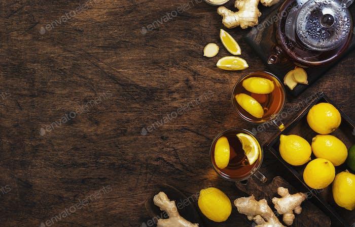Healing black herbal tea