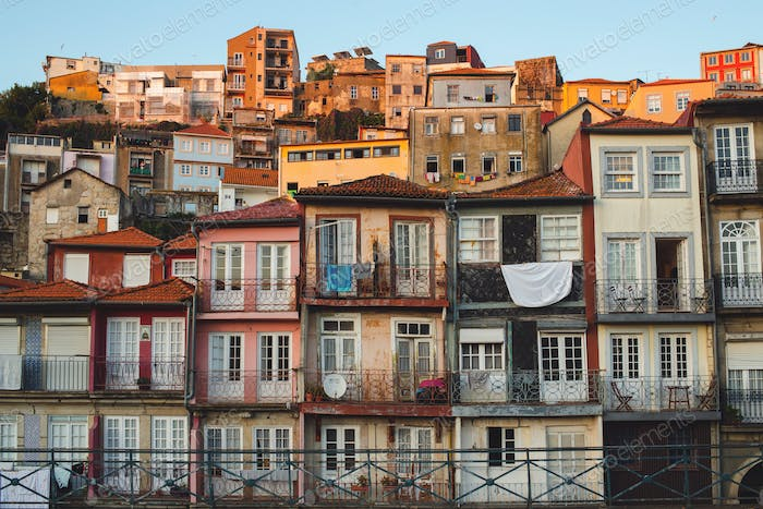 Old Buildings in Porto, Portugal.