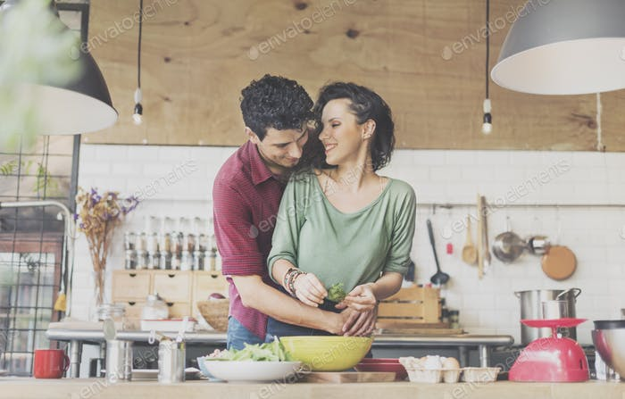 Couple Cooking Hobby Liefstyle Concept
