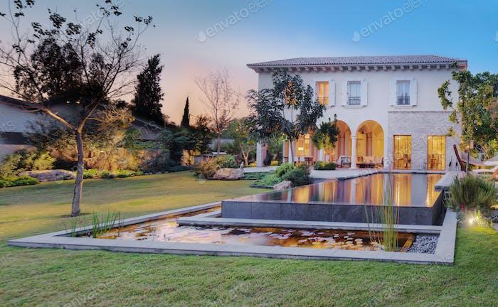 Backyard Of Upscale Residence