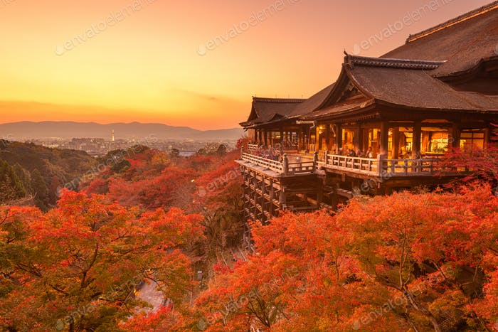 Kyoto, Japan at Kiyomizu-dera Temple in Autumn