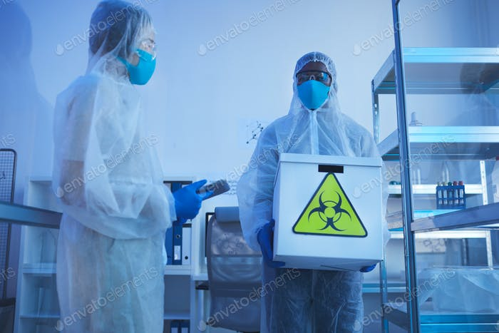Medical Scientists With Biohazards