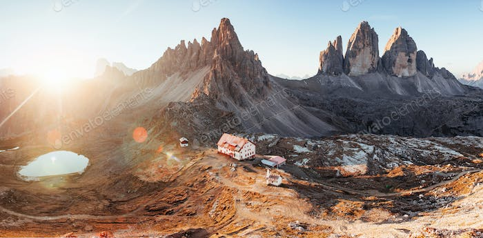 Outstanding landscape of the majestic Seceda dolomite mountains at daytime